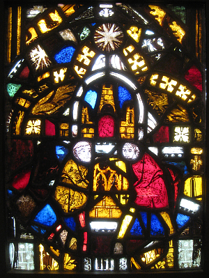 Medieval Stained Glass Image (256K)